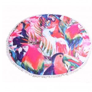 Other - Parrot Round Towel 54""
